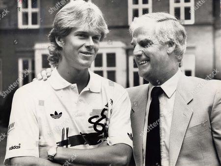 Swedish Tennis Player Stefan Edberg With Coaching Mentor Tony Pickard.
