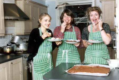 Stock Photo of Clare Latimer - Downing Street Caterer. Clare Latimer (centre) Owns A Catering Company 'clare's Kitchen'.