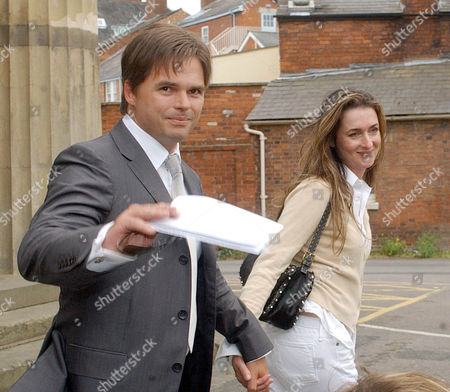 Daniel Galvin And His Wife Suzanna All Smiles As They Leave Hereford Crown Court After The Celebrity Hairdresser Was Found Not Guilty Of Assault.