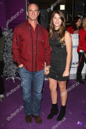 Stock Photo of Christopher Meloni with daughter Sophia Eva Pietra Meloni