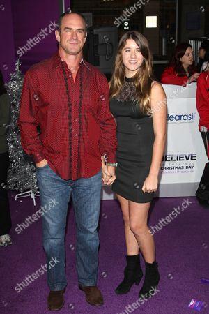 Stock Image of Christopher Meloni with daughter Sophia Eva Pietra Meloni