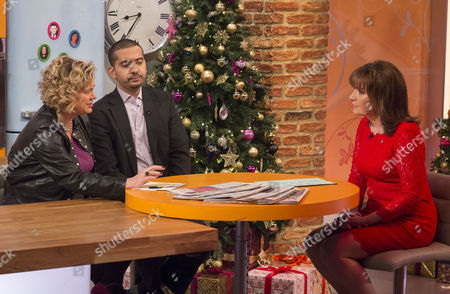 Eleanor Mills and Mehdi Hasan with Lorraine Kelly.