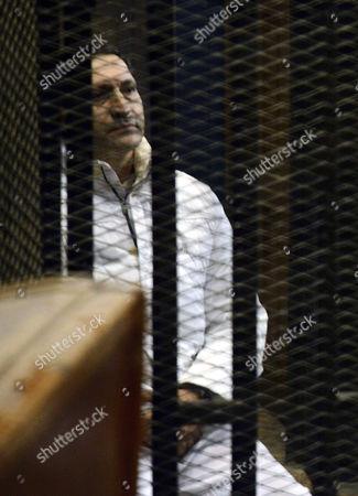 Alaa Mubarak in the defendants' cage