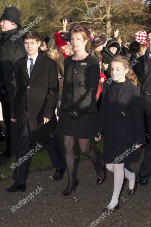 Arthur Chatto, Viscountess Serena Linley and Margarita Armstrong-Jones