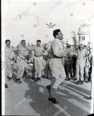 Dancing In The Streets. Jordanian Men Celebrate The Wedding Of King Hussein Of Jordan And Bride Toni Gardiner Who Will Now Be Known As Princess Muna Al-hussein.
