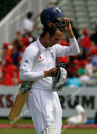 Editorial image of Matthew Vaughan Out To South Africa's Nel For A Duck At Edgbaston. Cricket: England V South Africa Third Test Day One.