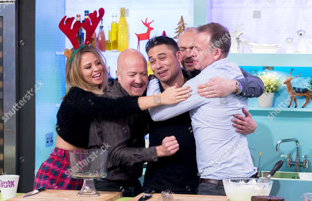 Kimberley Walsh, Andy Parsons, Ricky Norwood, Simon Rimmer and Tim Lovejoy