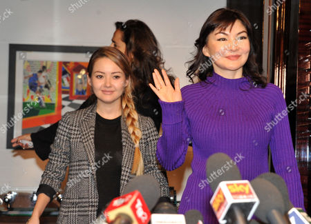 Alma Shalabayeva and daughter Madina (L)