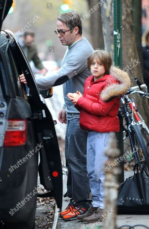 Stock Image of Matthew Broderick with son James Broderick