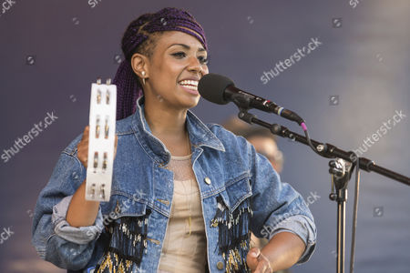Stock Image of Jennah Bell, American singer-songwriter live at the Blue Balls Festival, Pavillon am See