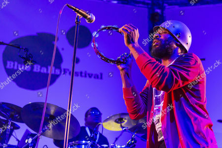 American singer and songwriter Cody Chesnutt, performing live at the Blue Balls Festival, Luzerner Saal KKL concert hall