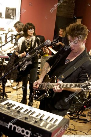 Editorial image of School of Seven Bells perform at the Doc Marten store, New York, America - 16 Jan 2013