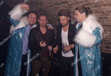 Sam Bailey and husband raid the G-A-Y fancy dress box and join Jimmy Constable and Simon Dawbarn from 911 for coffee liquers