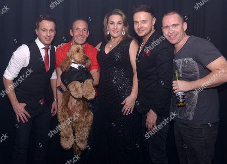 911 - Jimmy Constable, Lee Brennan, Simon Dawbarn with Jeremy Joseph (red top) and Sam Bailey