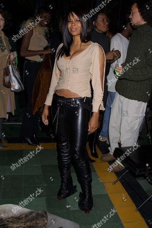 "Dawn Robinson (former member of the group En Vogue) at the publication party for Russell Simmon's new book, ""Life and Def: Sex, Drugs, Money and God"" at The Park in New York City on November 20, 2001.