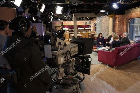 Petrie Hosken and Nick Ferrari with Eamonn Holmes and Ruth Langsford on set