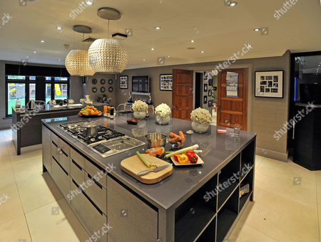 Stock Image of Wag Jessica Lawlor Of Aston Villa Player Stephen Ireland At Home In Prestbury Cheshire.  G/v Of Kitcheng/v Of Kitchen  20/12/12 For Irish Edition  .