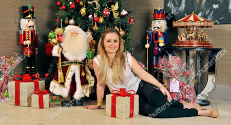 Jessica Lawlor Next To Her Christmas Tree.  20/12/12 For Irish Edition Wag Jessica Lawlor (pictured) Of Aston Villa Player Stephen Ireland At Home In Prestbury Cheshire. .