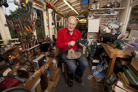 Inventor Trevor Baylis In His Workshop At His Home On Eel Pie Island Twickenham.