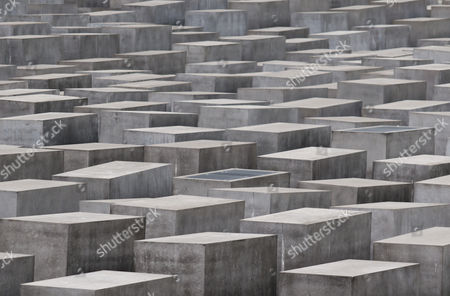 Concrete stelae of the Memorial to the Murdered Jews of Europe, or Holocaust Memorial