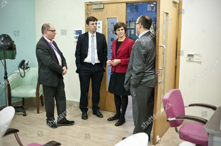 Simon Morris, CEO of Jewish Care, Andy Burnham MP, Shadow Secretary of State for Health, Sarah Sackman, Labour Prospective Parliamentary Candidate for Finchley and Golders Green, Neil Taylor, Head of Services for Jewish Care