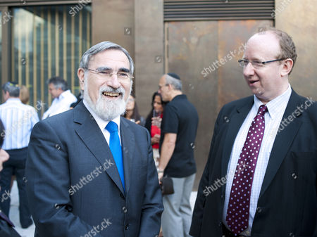Chief Rabbi Lord Jonathan Sacks and Daniel Finkelstein