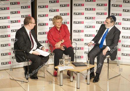 Daniel Finkelstein, Executive Editor of The Times, Dame Vivien Duffield, Chief Rabbi Lord Jonathan Sacks