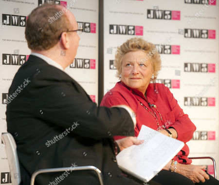 Daniel Finkelstein, Executive Editor of The Times, with Dame Vivien Duffield