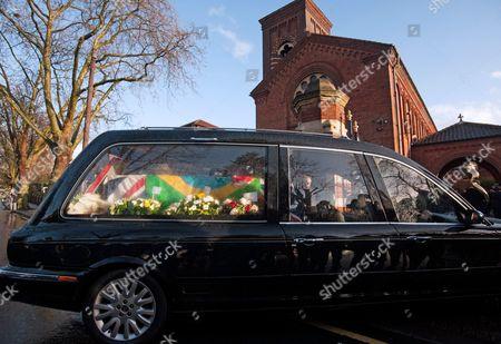 Editorial image of Ronnie Biggs funeral, Golders Green Crematorium, London, Britain - 03 Jan 2014
