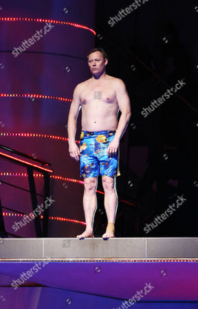 Ricky Groves prepares to dive from the 5 metre board