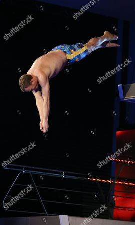 Ricky Groves dives from the 5 metre board