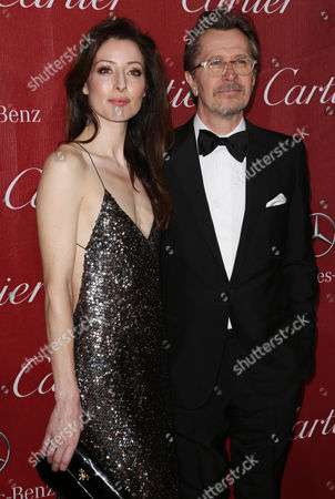 Stock Picture of Gary Oldman with wife Alexandra Edenborough