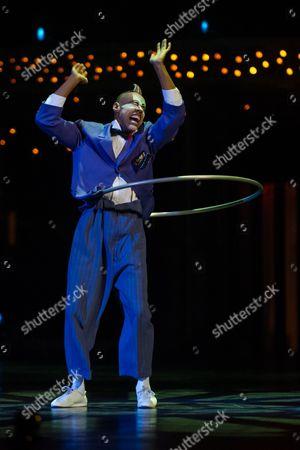 Editorial picture of Cirque du Soleil 'Quidam' dress rehearsal, Royal Albert Hall, London, Britain - 04 Jan 2014