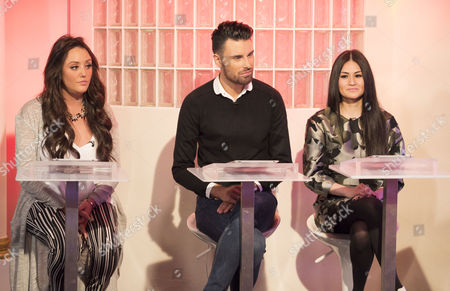 Stock Image of Charlotte Crosby, Rylan Clark and Alison Tay.