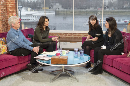 Phillip Schofield and Christine Bleakley with Francesca and Elisabetta Grillo