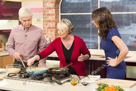 Stock Image of Phillip Schofield, Lesley Waters and Christine Bleakley