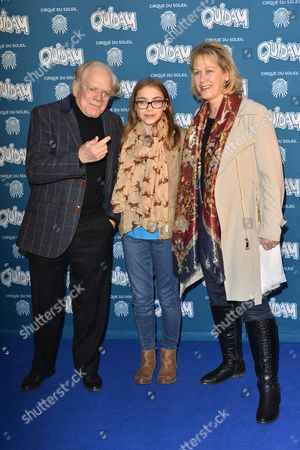 Stock Picture of Sir David Jason with his daughter Sophie Mae and wife Gill Hinchcliffe