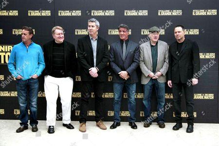 Kevin King, Michael Ewing, Peter Segal, Sylvester Stallone and Robert De Niro