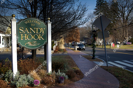 'Welcome to Sandy Hook' sign
