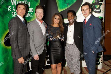 Stock Image of Justin Thomas, Oliver Brenin, Aisling Duffy, Sean Parkins and Matt Turner