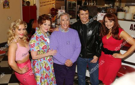 Heidi Range, Cheryl Baker, Henry Winkler, Ben Freeman and Amy Anzel