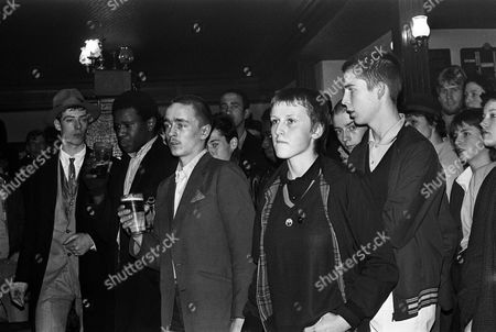 Skins and Gaz Mayall at a Bodysnatchers gig 1981