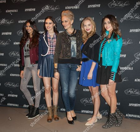 Editorial image of 'Pretty Little Liars' collection launch at Aeropostale, New York, America - 08 Jan 2014