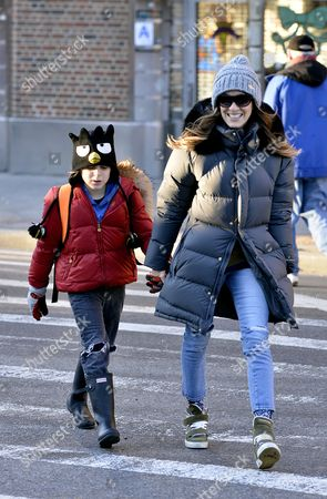 Editorial photo of Sarah Jessica Parker and daughters out and about en route to school, New York, America - 09 Jan 2014
