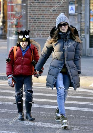 Stock Photo of Sarah Jessica Parker and son James Broderick