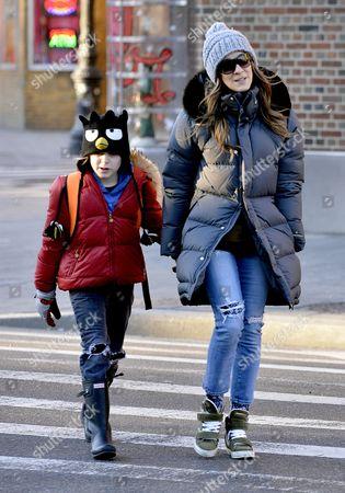 Sarah Jessica Parker and son James Broderick