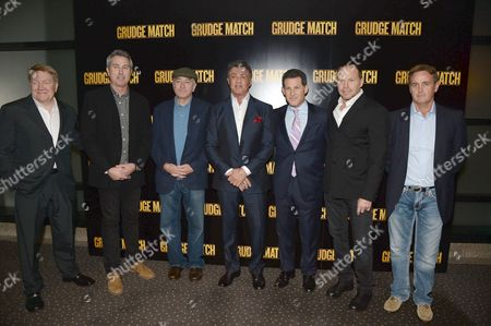 Michael Ewing, Peter Segal, Robert De Niro, Sylvester Stallone, guest, Bill Gerber and guest