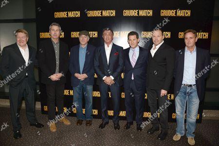 Stock Picture of Michael Ewing, Peter Segal, Robert De Niro, Sylvester Stallone, guest, Bill Gerber and guest