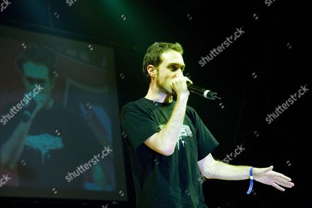 MC Beardyman at UK B-Boy Championships 2006. Brixton Academy, London, UK