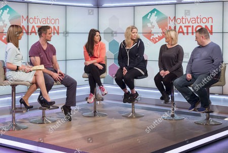Kate Garraway and Jessie Pavelka with Martha Jowett, Alan Robinson and Sam Sexton.